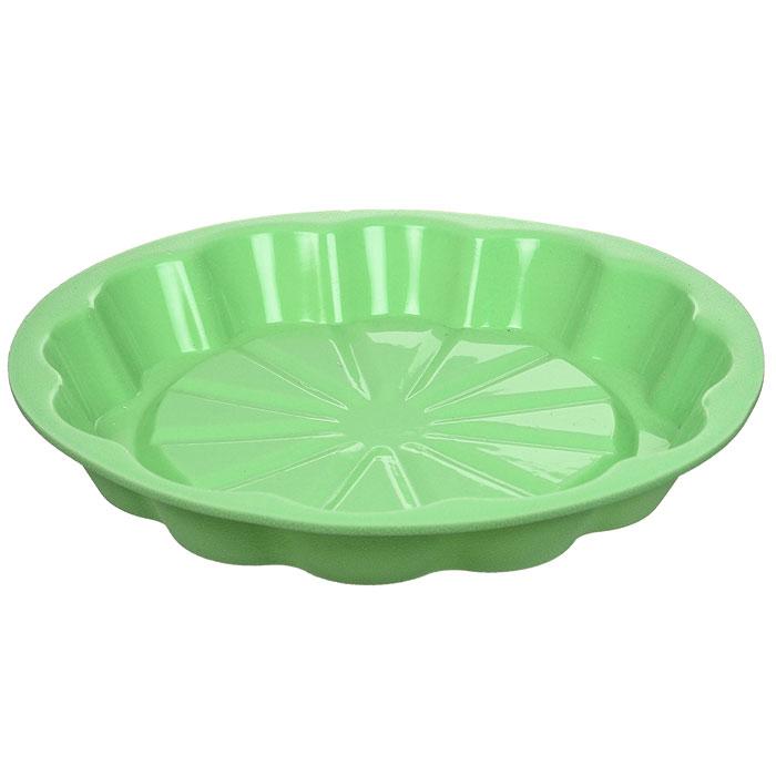 Форма для выпечки Marmiton Апельсин, цвет: салатовый, диаметр 24,5 см16031Форма Marmiton Апельсин выполнена из силикона, благодаря этому выпечку вынимать легко и просто. Материал устойчив к фруктовым кислотам, может быть использован в духовках и микроволновых печах. Можно мыть и сушить в посудомоечной машине.Диаметр (по верхнему краю): 24,5 см.Диаметр дна: 19 см.Высота стенки: 3,5 см.