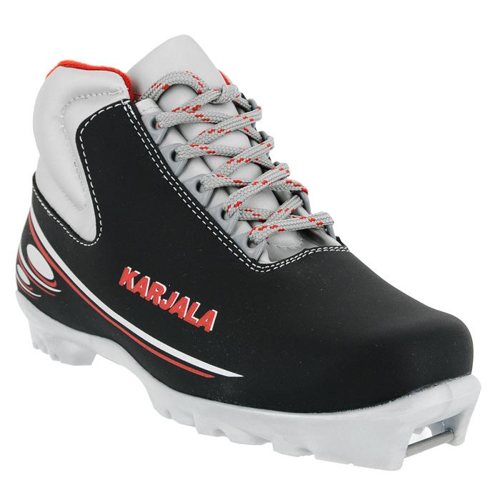 Ботинки для беговых лыж Karjala (Карелия) Cruiser NNN, цвет: черный. Размер 43 - Беговые лыжи