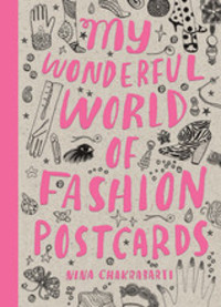 My Wonderful World of Fashion Postcard Book 30pcs in one postcard take a walk on the go paris france christmas postcards greeting birthday message cards 10 2x14 2cm