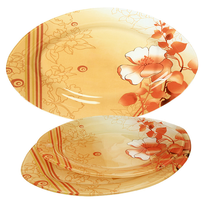 Набор блюдZibo Красный цветок 3 шт S4501A-3-C0214601137037523Набор блюд Красный цветок выполнен из стекла и декорирован изображением яркого, но в тоже время и нежного цветка, на переходящем от светлого к темно-оранжевому фоне. Набор состоит из трех блюд разного размера, овальной формы. Такой набор непременно украсит ваш праздничный стол. Характеристики: Материал: стекло. Размер большого блюда: 35,5 см х 23,5 см. Размер среднего блюда: 30 см х 20,5 см. Размер малого блюда: 25 см х 17,5 см. Размер упаковки: 36 см х 24 см х 3,8 см. Производитель: Китай. Артикул: S4501A-3-C021.