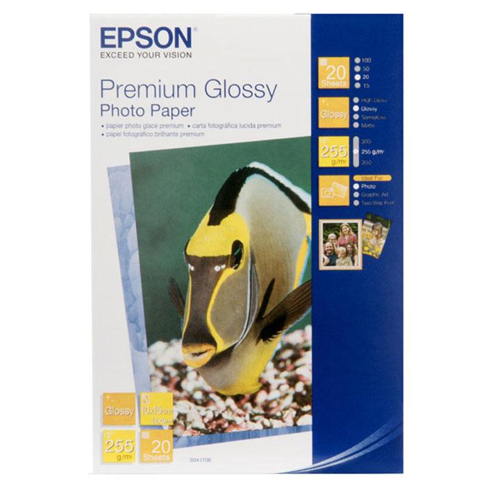 Epson Premium Glossy Photo 255/10x15/20л C13S041706C13S041706Глянцевая фотобумага Epson Premium Glossy Photo (C13S041706).Размеры 10x15 см
