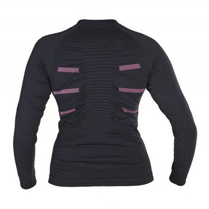 Термобелье футболка женская BodyDry Extreme, цвет: черный, розовый. Размер S (42-44)
