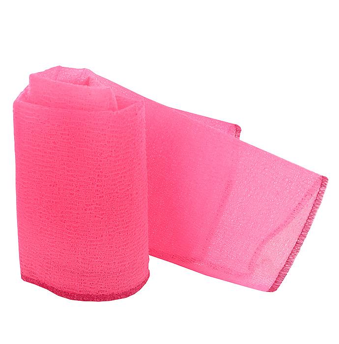 Мочалка-полотенце массажная Eva, цвет: розовый, 90 х 30 см мочалка eva с петлей