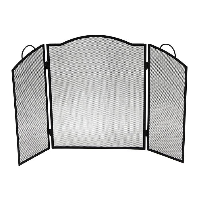 Экран для камина Банные штучки62021Экран для камина Банные штучки, выполненный из металла в виде трех решетчатых створок, прекрасно впишется в интерьер комнаты и станет изящным декоративным элементом. Каминный экран необходим для улучшения циркуляции воздуха, что помогает быстро и равномерно нагреть помещение. Также экран защит от искр и угольков, вылетающих из камина, тем самым предотвратит вероятность возникновения пожара или получения ожога. Такой стильный экран украсит камин, обеспечит безопасность и поможет вам создать в доме атмосферу уюта и комфорта. Характеристики: Материал:металл. Размер экрана (в разложенном виде):61 см х 94 см. Размер упаковки:62 см х 52 см х 2,5 см. Изготовитель:Китай. Артикул:62021.
