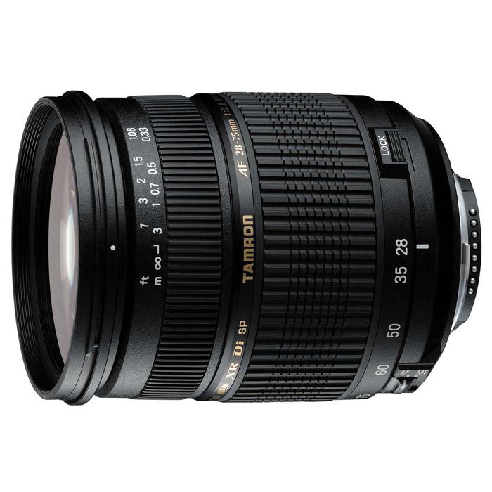 Tamron SP AF 28-75/2.8 XR Di LD Macro, CanonA09EКомпактный зум-oбъектив Tamron AF 28-75mm f/2.8 XR Di LD, который достигает постоянного относительного отверстия диафрагмы 2.8 на протяжении всего диапазона увеличений.Используемые технологии:Di - новое поколение объективов приспособленных к требованиям цифровых зеркальных камер.IF- внутренняя фокусировка позволяет при макросъемке настраивать объектив в непосредственной близости от объекта без риска повредить оптику.ASL - асферические гибридные элементы, устраняющие сферическую аберрацию и искажения.LD - линзы из стекла с чрезвычайно низким уровнем цветового рассеяния, снижающим хроматическую аберрацию.XR - применение стекла (XRGlas) позволило создать более компактные объективы с сохранением оптической мощности и светосилы на прежнем уровне.