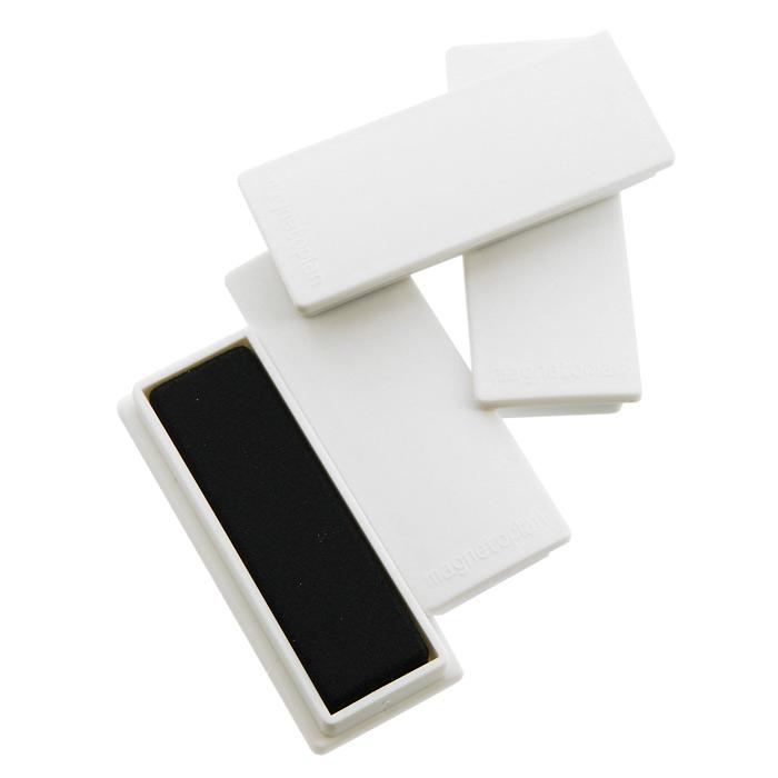 Набор магнитов Magnetoplan, цвет: белый, 10 шт16 651 00Магниты Magnetoplan прямоугольной формы не только надежно удержат листы бумаги на магнитно-маркерной поверхности, но и помогут расставить акценты, выделяя важную информацию. Изготовлены из цельного ферритного магнита. Имеют матовую поверхность корпуса и гладкую магнитную поверхность, которая не оставляет царапин на магнитной доске.Характеристики:Материал: пластик, магнит. Цвет: белый. Размер магнита: 1,9 см х 5,4 см х 0,8 см. Размер упаковки: 8 см х 2,5 см х 5,5 см. Изготовитель:Китай.