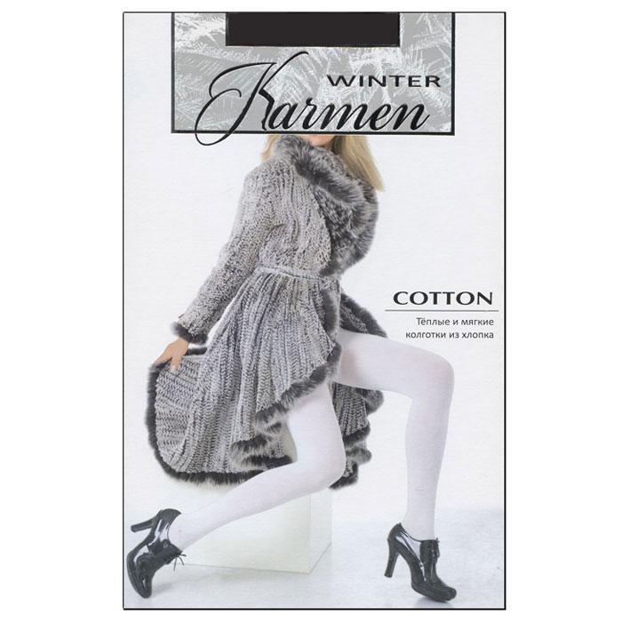 Колготки теплые Karmen Winter Cotton, цвет: темно-серый (Grigio Scuro). Размер 5K-Cotton Grigio ScuroТеплые и мягкие колготки из хлопка с плоскими швами. Идеально облегают фигуру и обеспечивают надежную защиту от холода.