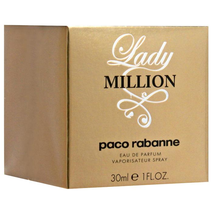 Paco Rabanne Lady Million. Парфюмерная вода, 30 мл3349668508488Женщина Lady Million в высшей степени женственная, решительная и невероятно смелая. Женщине Lady Million свойственны непринужденность и чувство юмора. Блестящая, она черпает силы в той легкости, которой обладают независимые умы. Сложный женственный образ Lady Million обладает сильным и противоречивым характером …Экстравагантная, однако настроенная на позитивный лад, обольстительница, а в душе - влюбленная, не отказывающая себе ни в чем, всегда в поиске нового, Lady Million - ослепительная роковая женщина, творческая и непокорная натура. Ни один мужчина не в силах перед ней устоять, немногим удается ее соблазнить.Встреча-шок, в которой игра обольщения, мечты и фантазии приходят в столкновение для того, чтобы как можно больше дать расцвести сверкающей вспышке двойной неизменной и вечной красоты - золоту и алмазу.Классификация аромата: цветочный, древесный.Пирамида аромата: Верхние ноты: малина, померанц, цветок апельсинового дерева. Ноты сердца: жасмин, гардения, пачули, мед.Ноты шлейфа: амбра.Ключевые слова: Соблазнительный, женственный, экстравагантный! Характеристики:Объем: 30 мл. Производитель: Франция. Самый популярный вид парфюмерной продукции на сегодняшний день -парфюмерная вода. Это объясняется оптимальным балансом цены и качества - с одной стороны, достаточно высокая концентрация экстракта (10-20% при 90% спирте), с другой - более доступная, по сравнению с духами, цена. У многих фирмпарфюмерная вода - самый высокий по концентрации экстракта вид товара, т.к. далеко не все производители считают нужным (или возможным) выпускать свои ароматы в виде духов. Как правило, парфюмированнаявода всегда в спрее-пульверизаторе, что удобно для использования и транспортировки. Так что если духи по какой-либо причине приобрести нельзя,парфюмерная вода, безусловно, - самая лучшая им замена.Товар сертифицирован.Краткий гид по парфюмерии: виды, ноты, ароматы, советы по выбору. Статья OZON Гид