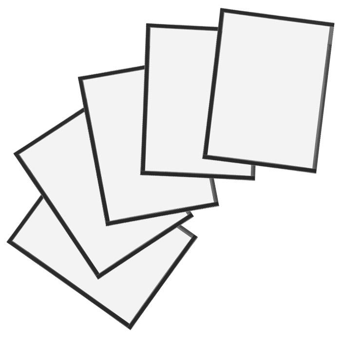 """Конверт с магнитной рамкой """"Magnetoplan"""", А4, цвет: серый, 5 шт"""