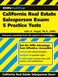 CliffsTestPrep® California Real Estate Salesperson Exam real estate broker 500g