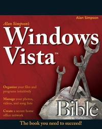 Alan Simpson?s Windows VistaTM Bible tome tanasovski windows powershell 2 0 bible