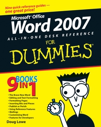 Word 2007 All–in–One Desk Reference For Dummies® building web sites all–in–one desk reference for dummies®