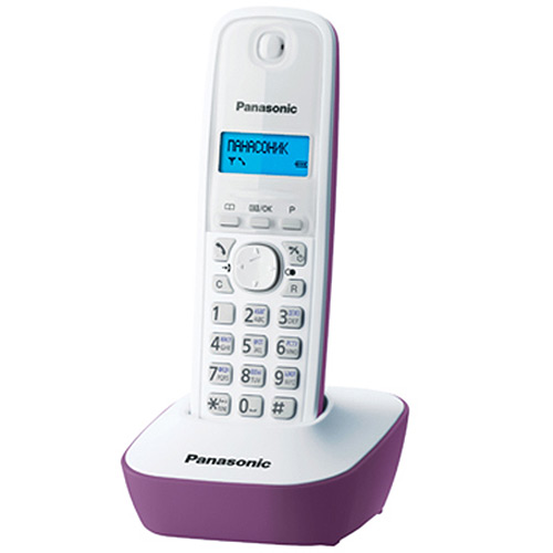 Panasonic KX-TG1611 RUF, Purple DECT телефон - Радиотелефоны DECT