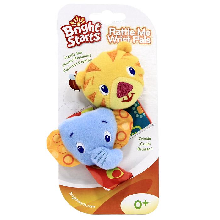 Мягкая игрушка-погремушка на руку Bright Starts, 2 шт. 8531 малышарики мягкая игрушка собака бассет хаунд 23 см