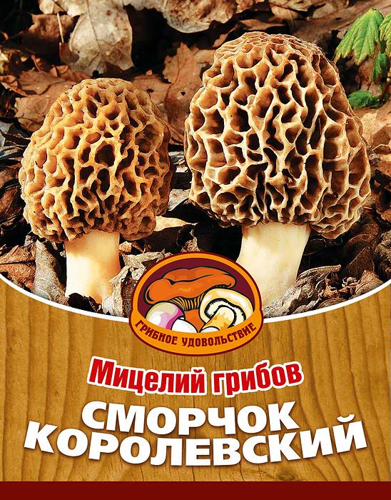 Мицелий грибов Сморчок королевский, субстрат. Объем 60 мл мицелий грибов рыжик настоящий 60мл