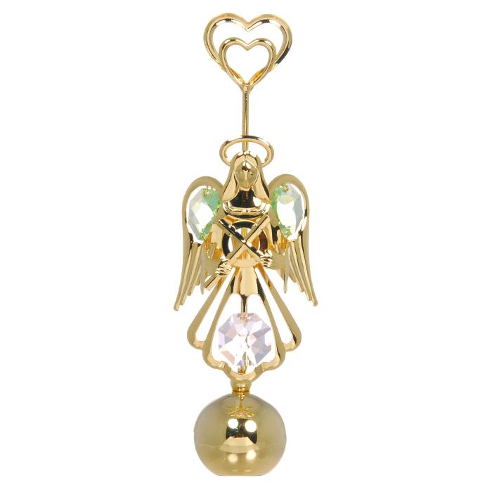 """Держатель для визиток """"Ангел-хранитель"""", цвет: золотистый, 11 см, Crystocraft"""