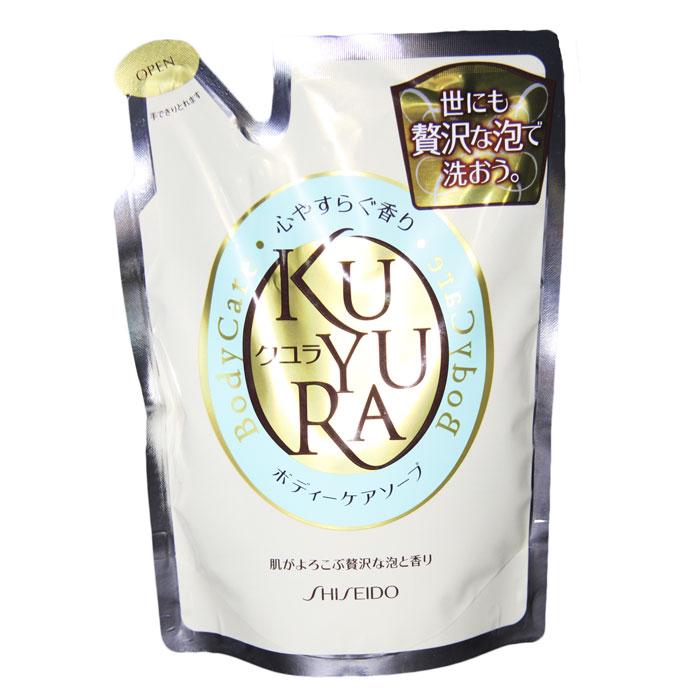 Гель-мыло для тела Kuyura, с ароматом лечебных трав, 400 мл817690Гель бережно покрывает тело нежной пеной, которая тщательно, не повреждая, очищает поры. Наличие крема в составе геля способствует увлажнению кожи и повышению ее упругости, эластичности и гладкости. Соевое масло, входящее в состав средства, питает, смягчает ипомогает коже удерживать влагу и создает на ее поверхности защитный барьер. Лимонная кислота стимулирует синтез коллагена. Аминокислоты улучшают кровообращение и размягчают ороговевшие участки.Гель восстанавливает поврежденную кожу, насыщая ее витаминами. Приятный аромат лечебных трав обладает успокаивающим действием. СПОСОБ ПРИМЕНЕНИЯ: нанести на мочалку и вспенить, круговыми движениями нанести на тело, затем смыть теплой водой. Предупреждение: при попадании средства в глаза, промыть водой. Условия хранения: хранить в сухом темном месте, избегать попадания прямых солнечных лучей, беречь от воздействия высокой температуры.Состав: СОЕВОЕ МАСЛО, ЛИМОННАЯ КИСЛОТА, ВОДА, лауриновая кислота, пальмитиновая кислота, миристиновая кислота, стеариновая кислота, дистеарат гликоля, олеиновая кислота, кокоилметилтаурин натрий, хлорид натрия, окоферол, феноксиэтанол, метилпарабен, пропилпарабен, полиаспарагинат натрия, гидроксипропилметил целлюлоза,ароматизатор. Характеристики: Производитель:Shiseido Ltd Япония Токио Гинза Се-ку 7-5-6.