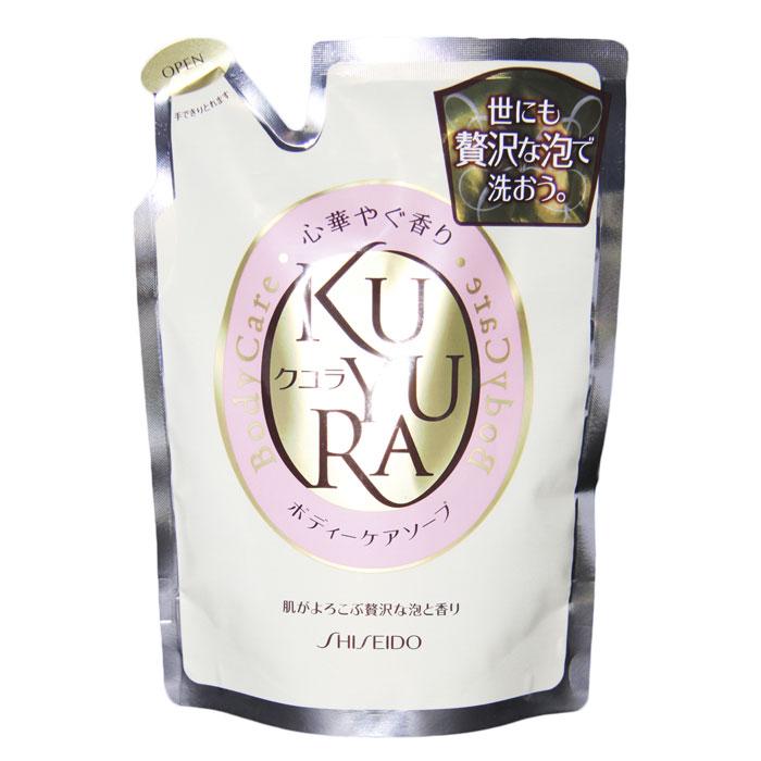 Гель для душа Kuyura с ароматом цветов, сменная упаковка, 400 мл836277Гель для душа Kuyura поможет в уходе за Вашим телом при помощи необыкновенно обильной пены с ненавязчивым, расслабляющим ароматом цветов. Гель предотвращает сухость, поддерживая ее в увлажненном и здоровом состоянии, а также делает кожу мягкой при продолжительном использовании. Превосходно удаляет ненужную ороговевшую кожу и смывает загрязнения, но при этом не лишает кожу необходимой влаги.Характеристики: Вес: 400 мл. Производитель: Япония. Артикул: 836277. Товар сертифицирован.