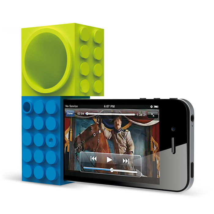 Ozaki iCary Time2Brick для iPhone 4/4S, Blue Green (IH927B)
