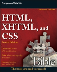 HTML, XHTML, and CSS Bible sitemap 62 html