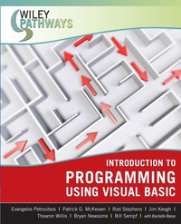 Wiley Pathways Introduction to Programming using Visual Basic mohamed hemida abd alla introduction to basic bacteriology