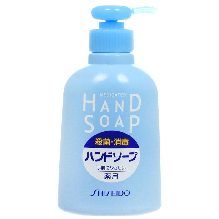 Мыло для рук Shiseido, лечебное, 250 мл860460Мыло Shiseido великолепно освежает и бережно очищает руки благодаря моющим веществам на 100% растительного происхождения, которые на долгое время удерживают влагу в коже, тем самым делая ваши руки гладкими и нежными, препятствует распространению бактерий. Не содержит красителей и антиоксидантов. Хорошее антибактерицидное действие. Подарите вашим рукам профессиональный уход. Характеристики: Объем: 250 мл. Артикул: 860460. Производитель: Япония. Товар сертифицирован.