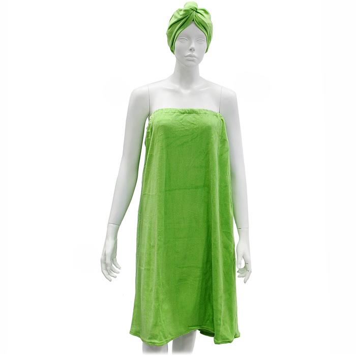 Комплект женский для бани и сауны  Eva , цвет: салатовый. Б261 -  Баня, сауна