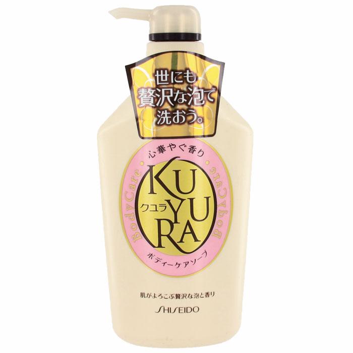 Гель для душа Shiseido Kuyura, с ароматом цветов, 550 мл836253Уход за вашим телом при помощи необыкновенно обильной пены с ненавязчивым, расслабляющим ароматом цветов. Гель предотвращает сухость кожи, поддерживая ее в увлажненном и здоровом состоянии, а также делает кожу мягкой при продолжительном использовании. Превосходно удаляет ненужную ороговевшую кожу и смывает загрязнения, но при этом не лишает кожу необходимой влаги. Характеристики:Объем: 550 мл. Производитель: Япония. Артикул: 808520.Товар сертифицирован.