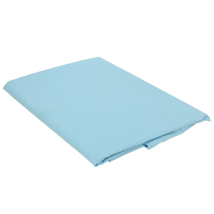 "Простыня на резинке ""Style"", цвет: голубой, 160 х 200 см"