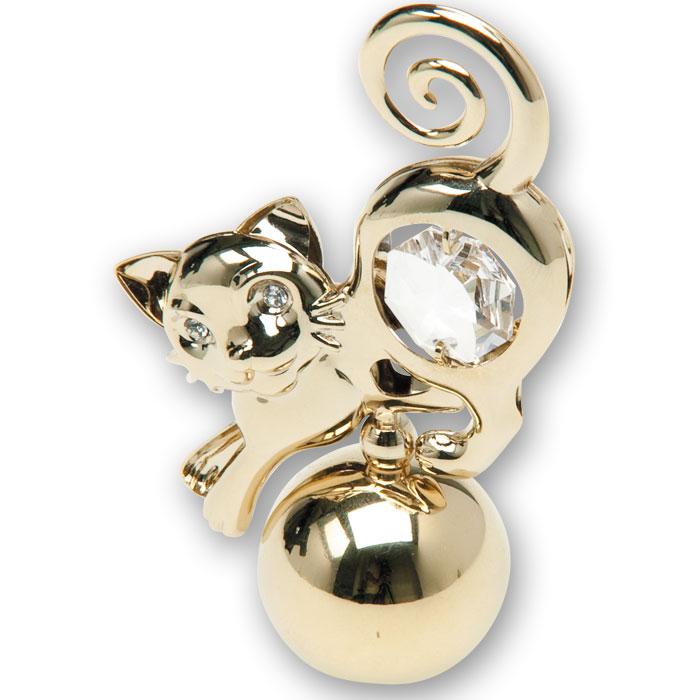 Миниатюра Кошка, цвет: золотистый, 7,5 смU0330-055-GC1Декоративное изделие в виде изящной кошки изготовлено из высококачественной стали с использованием кристаллов Swarovski. Оригинальная миниатюра будет отличным подарком для ваших друзей и коллег.Более 30 лет компания Crystocraft создает качественные, красивые и изящные сувениры, декорированные различными кристаллами Swarovski. Характеристики: Материал:сталь, кристаллы Swarovski. Высота:7 см. Размер коробки:7,5 см х 5 см х 3,5 см. Артикул:U0330-055-GC1. Производитель: Китай.