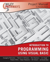 Wiley Pathways Introduction to Programming using Visual Basics Project Manual купить