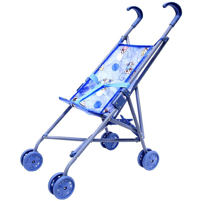 """Прогулочная коляска для кукол """"Melobo"""", цвет: синий"""