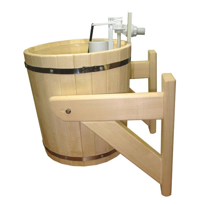 Обливное устройство Русский душ для бани и сауны, 20 л.33201Обливное устройство Русский душ превосходно дополнит банную процедуру! Такое устройство позволит вам принимать контрастный душ после парной, который создаст у вас ощущение бодрости, свежести, зарядит хорошим настроением, поможет закалить организм и повысить иммунитет.Обливное устройство выполнено из деревянных шпунтованных клепок, стянутых двумя обручами из нержавеющей стали. Для изготовления клепок использовалась натуральная древесина липы. Внутри обливного устройства имеется пластиковая вставка. В комплект также входит выпускной клапан, который поможет вам регулировать поступление воды. Соединение обливного устройства осуществляется гибким шлангом (не входит в комплект) от водопровода или другого источника воды через хвостовик впускного клапана. Специальный шнур позволяет с удобством пользоваться обливным устройством.Обливное устройство может монтироваться как к стенам, так и к потолку помещения (система крепления входит в комплект). Характеристики: Материал: дерево (липа), пластик, нержавеющая сталь, текстиль. Диаметр обливного устройства по верхнему краю:32 см. Высота стенки обливного устройства:36 см. Толщина стенки обливного устройства:1,5 см. Объем:20 л. Размер кронштейна (2 шт):34 см х 32 см х 7 см. Размер упаковки:35 см х 40 см х 34 см. Производитель:Россия. Артикул:33201.