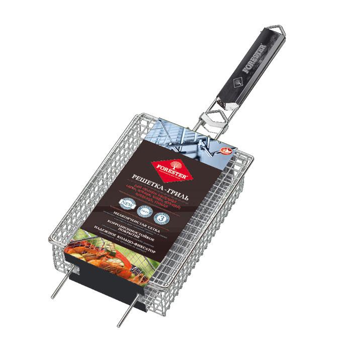 Решетка-гриль Forester для мелких кусочков, 24 x 17 смBQ-N13Объемная решетка-гриль Forester с мелкоячеистой сеткой предназначена для приготовления мелких кусочков мяса, птицы, рыбы и овощей на углях. Также позволяет готовить картошку-фри, креветки и грибы. Решетка изготовлена из стали с коррозионностойким покрытием и идеально подходит для мангалов и барбекю.Решетка-гриль имеет фиксирующее кольцо на ручке, что обеспечивает надежную фиксацию, и усики, которые позволяют расположить решетку на мангале или барбекю, задействовав всю ее рабочую поверхность. Деревянная ручка предохраняет руки от ожогов и удобна для обхвата двумя руками, что помогает легко переворачивать загруженную решетку. Характеристики:Длина ручки: 27 см. Высота стенки решетки: 6,5 см. Размер решетки:24 см х 17 см. Материал:сталь, дерево. Производитель: Китай. Артикул: BQ-N13.Forester - брэнд с широкими интернациональными традициями и в этом секрет его успеха.Forester впитал в себя самое лучшее из созданного предшественниками, поэтому продукция фирмы - это все самое качественное для вашего пикника. Разработано компанией Ruyan Co, Германия.