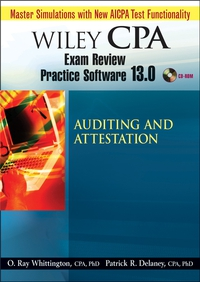 Wiley CPA Examination Review Practice Software 13.0 Audit