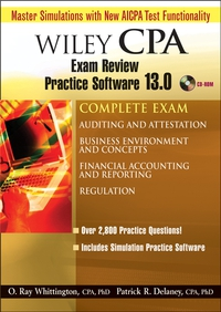 Wiley CPA Examination Review Practice Software 13.0, Complete Set wiley mark s cpa examination review set 97