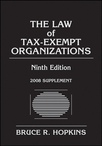The Law of Tax–Exempt Organizations, 2008 Supplement ayres law office software attorney s guide to selection 1991 supplement pr only