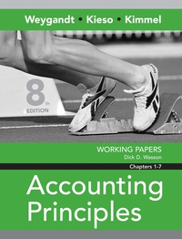 Working Papers Chapters 1–7 to accompany Accounting Principles