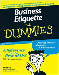 Business Etiquette For Dummies® business networking for dummies