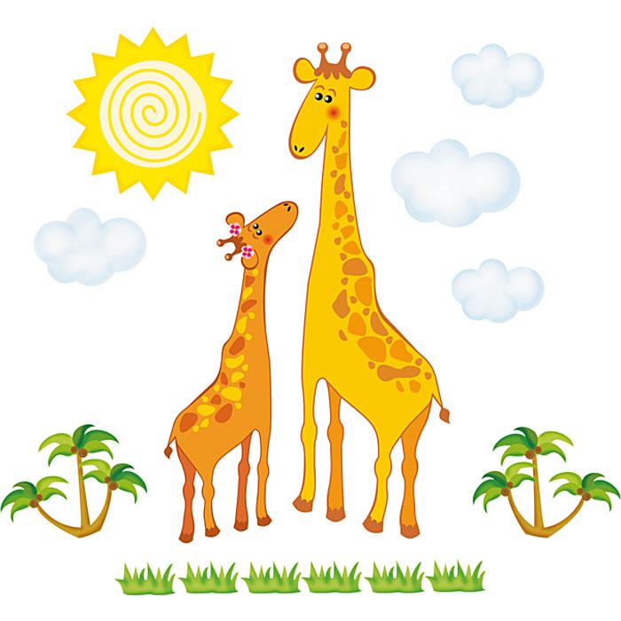 Украшение для стен и предметов интерьера Два жирафаВ 2039Украшение для стен и предметов интерьера Два жирафа, состоящее из самоклеющихся элементов с изображением двух жирафов, солнышка, облаков, пальм и шести кустиков с травой. Это украшение поможет вам украсить интерьер вашего дома и проявить индивидуальность. Декоретто - уникальный способ легко и быстро оживить интерьер, добавить в него уют и радость. Для вас открываются безграничные возможности проявить творчество и фантазию, придумать оригинальный дизайн, придать новый вид стенам и мебели. В коллекции Декоретто вы найдете украшения для любых городских и дачных интерьеров: детских, гостиных, спален, кухонь, ванных комнат. Особенности украшений Декоретто: изготовлены из экологически безопасной самоклеющейся пленки с водоотталкивающей поверхностью;быстро и легко наклеиваются на обои, крашеные стены, дерево, керамическую плитку, металл, стекло, пластик;при необходимости удобно снимаются, не оставляют следов и не повреждая поверхность (кроме бумажных обоев);специальный слой защищает поверхность от влаги и выгорания. Характеристики: Материал: самоклеющаяся пленка. Размер листа: 67 см x 47 см. Артикул: B 2039.Изготовлено в России по лицензии Ascott Group (Франция).