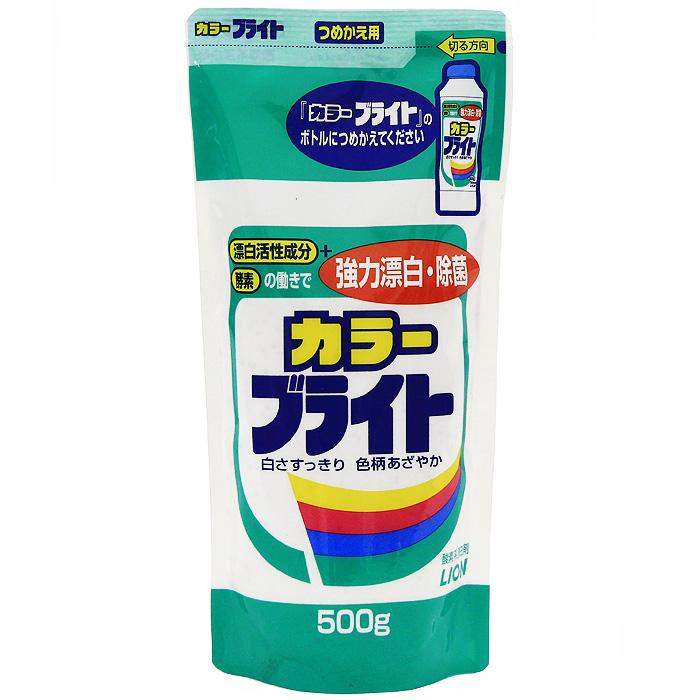 Отбеливатель Lion Сolor Bright, наполнитель, 500 г695905Отбеливатель Lion Сolor Bright, сменный блок, 500 гДля белого и цветного бельяОтбеливатель Lion Сolor Bright подходит для стирки белья из хлопка, льна, синтетических тканей, шерсти и шелка. Эффективно удаляет даже самые сложные загрязнения, убирает желтизну, улучшает краски цветного белья, делая их более яркими и насыщенными, обладает антибактериальным эффектом. Эффективно выводит пищевые (от виноградного сока, вина, черного чая, приправ, соусов) и масляные пятна, а также загрязнения на воротничках и манжетах. Дезинфицирует одежду и эффективно удаляет запахи. Характеристики: Вес: 500 г. Производитель: Япония. Артикул: 695905. Японская бытовая химия - это эффективность, высочайшее качество, экономичность и безопасность применения.Компания Lion, основанная в октябре 1891 г, является одним из лидеров в Японии по производству косметической продукции и бытовой химии. Четыре исследовательских центра компании постоянно занимаются разработкой новой продукции, а также совершенствованием уже имеющейся. Компания Lion стремиться к тому, чтобы делать жизнь людей счастливее и радостнее.