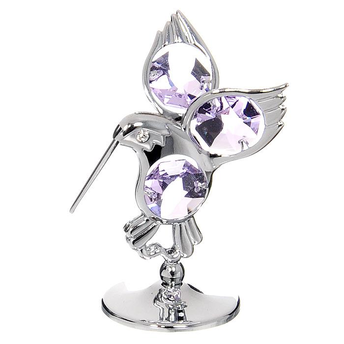 Миниатюра Колибри, цвет: серебристый, 6 см миниатюра два сердца пронзенные стрелой цвет серебристый 6 5 см
