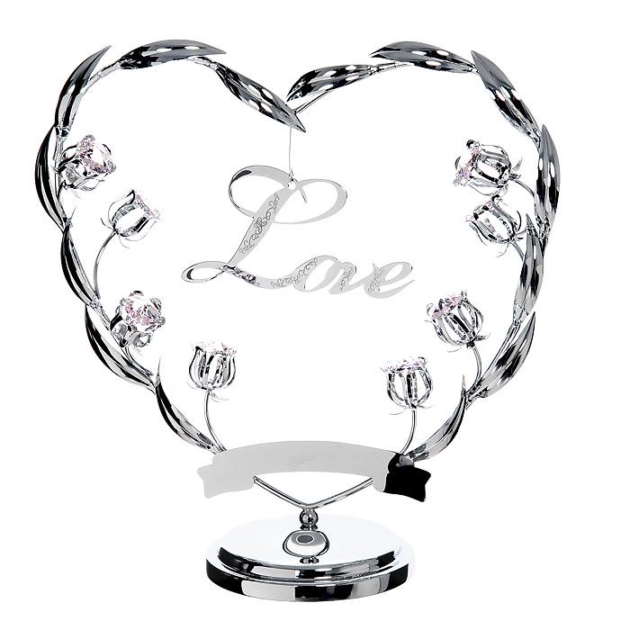 Миниатюра Любовь, цвет: серебристыйU0388-173-CPIOМиниатюра Любовь, серебристого цвета, станет необычным аксессуаром для вашего интерьера и создаст незабываемую атмосферу. Кристаллы, украшающие сувенир, носят громкое имяSwarovski - ограненные, как бриллианты, кристаллы блистают сотнями тысяч различных оттенков.Эта очаровательная вещь послужит отличным подарком близкому человеку, родственнику или другу, а также подарит приятные мгновения и окунет Вас в лучшие воспоминания. Характеристики: Материал: металл, австрийские кристаллы. Размер миниатюры: 20 см х 20 см х 8 см. Цвет: серебристый. Размер упаковки: 24,5 см х 10 см х 24,5 см. Изготовитель: Китай. Артикул: U0388-173-CPIO. Более чем 30 лет назад компанияCrystocraftвыросла из ведущего производителя в перспективную торговую марку, которая задает тенденцию благодаря безупречному чувству красоты и стиля. Компания создает изящные, качественные, яркие сувениры, декорированные кристалламиSwarovskiразличных размеров и оттенков, сочетающие в себе превосходное мастерство обработки металлов и самое высокое качество кристаллов. Каждое изделие оформлено в индивидуальной подарочной упаковке, что придает ему завершенный и презентабельный вид.