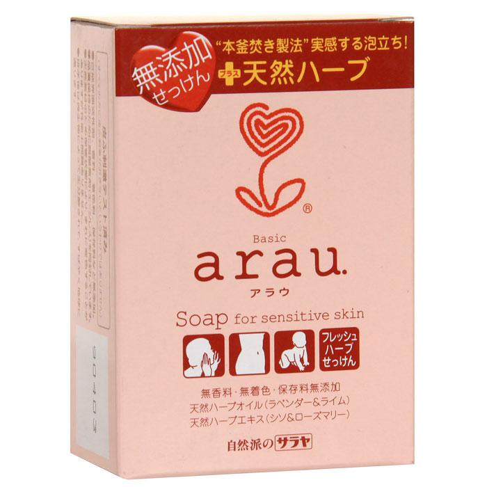 Мыло Arau, на основе трав, 100 г25751Мыло Arau не содержит консервантов, красителей или ароматизаторов, изготовлено из компонентов растительного происхождения. Нежная пена прекрасно смывает загрязнения и ухаживает за кожей, сберегая необходимую влагу. Натуральные масла лаванды и лайма, а также натуральные травяные экстракты периллы и розмарина очищают и дезодорируют, придают тонкий аромат трав. Рекомендуется для чувствительной кожи, подверженной стрессам.Характеристики:Вес: 100 г. Производитель: Япония. Товар сертифицирован.