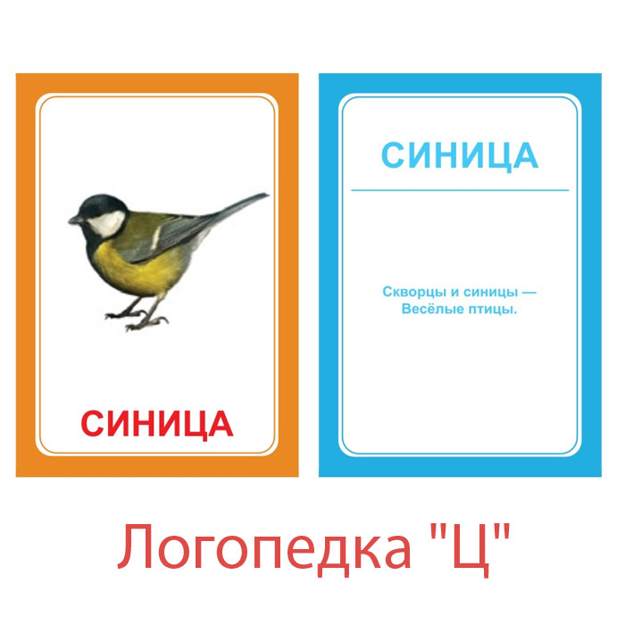 Вундеркинд с пеленок Обучающие карточки Логопедка Ц говорим с пеленок