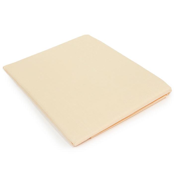 "Простыня на резинке ""Style"", цвет: бежевый, 160 х 200 см"