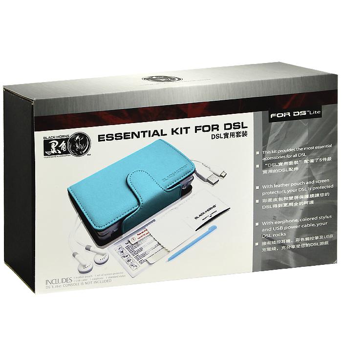 Набор 5 в 1 для приставки DS Lite (голубой)