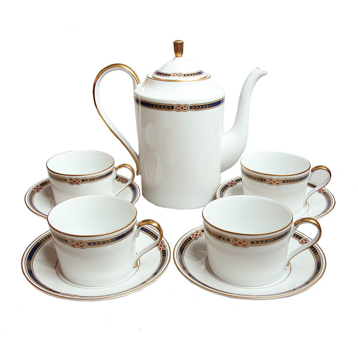 Чайный сервиз Монарх на 4 персоны. Япония. Фаберже. 1990-е гг. jk 27 чайный сервиз на 6 перс гармония pavone