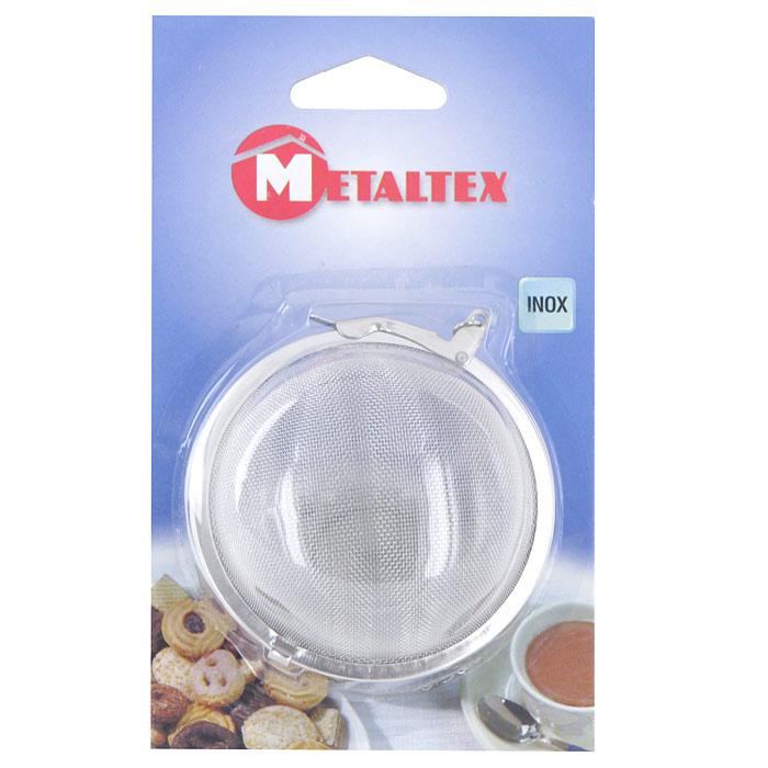 Фильтр-ситечко Metaltex для заваривания чая25.38.30Круглое ситечко Metaltex на цепочке, предназначенное для заваривания чая или кофе, выполнено из нержавеющей стали. Цепочка крепится к чайнику при помощи специального крючка на конце. Оригинальный аксессуар займет достойное место на вашей кухне. Теперь можно легко заваривать любимый чай!Характеристики:Материал: нержавеющая сталь. Диаметр фильтра: 6 см. Производитель: Италия. Изготовитель: Китай. Артикул: 25.37.30.
