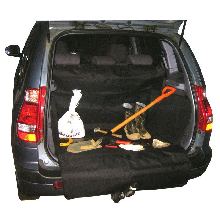 Защитная накидка в багажник Comfort Adress, цвет: черный, 120 х 150 х 70 смdaf0221Защитная накидка в багажник Comfort Adress, выполненная из прочного, водоотталкивающего материала, защищает дно, боковые стенки багажника, спинки задних сидений от грязи и повреждений. Также имеется дополнительная защита бампера от царапин во время загрузки. Система установки проста и удобна. Не мешает откидыванию задних сидений. Защитная накидка универсальна, подходит для любых типов и размеров багажников. Характеристики: Материал: непромокаемая ткань ПВХ 600D. Размер: 120 см х 150 см х 70 см. Цвет: черный. Производитель: Россия. Артикул: daf 0221.